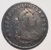 1803 50C DRAPED BUST HALF DOLLAR SMALL 3 VF DETAILS