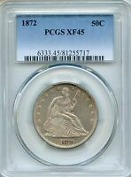 1872 LIBERTY SEATED HALF DOLLAR PCGS XF45   50C 81255717
