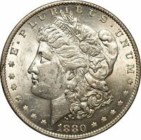 1880 O MORGAN SILVER DOLLAR BU