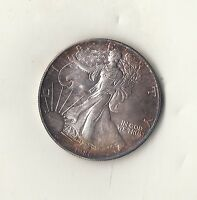 1986 SILVER EAGLE  KEY DATE  BEST TONING EVER
