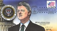 1993 CLINTON INAUGURATION, KENDAL BEVIL H/P HAND PAINTED. [E209395]
