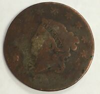 1829 CORONET HEAD LARGE CENT