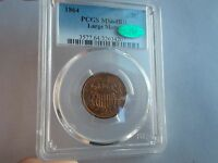 PCGS 1864 2 CENTS 2C PCGS MINT STATE 64 RB - LARGE MOTTO - CAC CERTIFIED