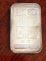 1/2 OZ SILVER BAR JOHNSON MATTHEY