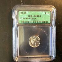 2006 $10 MS 70 PLATINUM AMERICAN EAGLE 1/10 OUNCE 5/31 B 8