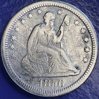 1856 S SEATED LIBERTY QUARTER 25C  DATE SAN FRANCISCO XF DETAILS 5701