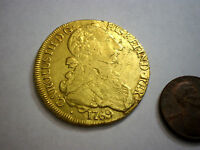 1769 CHILE 8 ESCUDOS  DOUBLOON COLONIAL GOLD COIN