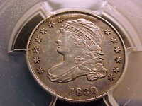 1830/29 DRAPED BUST DIME PCGS AU DETAILS.  TRY TO FIND THE REASON