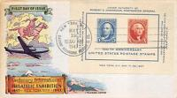 948 5C & 10C CIPEX S/S, FIRST DAY COVER CACHET [E191467]