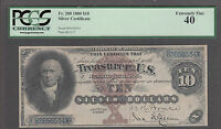 FR 288 1880 $10 SILVER CERTIFICATE PCGS XF 40. GREAT COLOR WITH ONLY 79 KNOWN