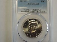 2013 P KENNEDY HALF DOLLAR PCGS MS68 BUSINESS STRIKE POP 8  PCGS $1800