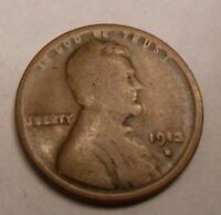 1913 S LINCOLN WHEAT CENT / PENNY