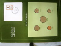 COIN SETS OF ALL NATIONS BRUNEI 5 COIN SET 1987 - 1988