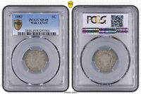 1883 LIBERTY NICKEL WITH CENTS PCGS XF 45