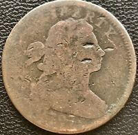 1797 LARGE CENT DRAPED BUST ONE CENT 1C 6061