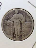 1927 STANDING LIBERTY QUARTER, TYPE 2B, 90 SILVER