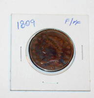 1809 CLASSIC HEAD BUST 1C LARGE CENT SMOOTH PLANCHET & CLEAR DATE