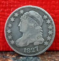 VERY NICE BETTER GRADE 1827 SILVER CAPPED BUST DIME