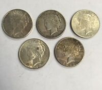 SILVER PEACE DOLLAR GROUP LOT 1 1922-S 2 1923-P 2 1923-S I-4266