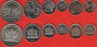 TRINIDAD AND TOBAGO SET OF 6 COINS: 1 CENT   1 DOLLAR 1979 2008 UNC