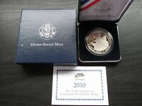 2010 U.S. MINT BOY SCOUTS OF AMERICA CENTENNIAL PROOF SILVER DOLLAR