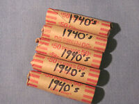 ROLLS OF 1940'S SMALL CENTS / PHILLY DENVER & SAN FRANCISCO