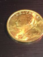 1935  SWISS 20 FRANC GOLD COIN MINT STATE