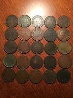 30 CANADA LARGE CENTS   NICE LOT