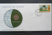 1978 FRANKLIN MINT TRINAD AND TOBAGO COINS OF THE WORLD   CANCELED STAMP