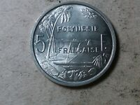 FRENCH POLYNESIA 5 FRANCS 1965  FRENCH