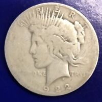 1922 D SILVER PEACE U.S. DOLLAR COIN BEAUTIFUL  AUTHENTIC $1 COIN