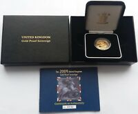 2004 GOLD PROOF SOVEREIGN ROYAL MINT BOX & C.O.A