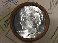 $20 SILVER DOLLAR ROLL 1924 AND S MINT PEACE DOLLAR ENDS