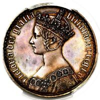 1847 QUEEN VICTORIA GREAT BRITAIN SILVER PROOF GOTHIC CROWN