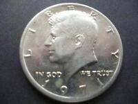 UNITED STATES OF AMERICA KENNEDY HALF DOLLAR COIN 1971 GOOD CIRCULATED CONDITION