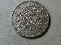 GREAT BRITAIN FLORIN TWO SHILLINGS 1960 QEII