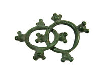 P22: OUTSTANDING ANCIENT CELTIC BRONZE KNOBBED RINGS PROTO MONEY. 600 400 BC.