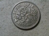 GREAT BRITAIN 6 PENCE SIXPENCE 1954 1955 1956 1957 1958 1959 1960.. WEDDING GIFT