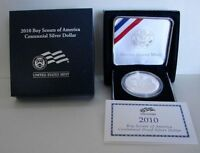 2010 BOY SCOUTS OF AMERICA CENTENNIAL PROOF SILVER DOLLAR    ORIGINAL BOX   COA