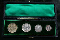 1894 SILVER MAUNDY MONEY SET IN CONTEMPORARY DATED CASE