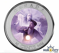 2016 25 CENTS HAUNTED CANADA: BELL ISLAND HOLOGRAM COLOURED COIN