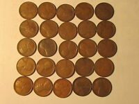 1/2 ROLL 1916 S LINCOLN WHEAT CENTS PENNY IN GOOD OR BETTER CONDITION 25 COINS