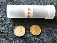 1944 & 1945 LINCOLN WHEAT CENT PENNIES MIXED MINTS    FREE SHIP