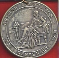 BRIT ASSOC FOR THE ADVANCEMENT OF SCIENCE 1931 CENTENARY MEETING DELEGATE BADGE