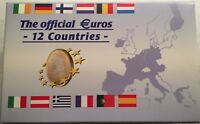 THE OFFICIAL EURO SETS OF 12 COUNTRIES  96 UNCIRCULATED COINS 1999 2002