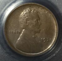 1921-S 1C LINCOLN WHEAT CENT PCGS MINT STATE 64 BN