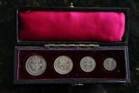 1897 SILVER MAUNDY MONEY SET IN CONTEMPORARY DATED CASE