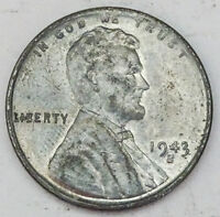 1943-S LINCOLN STEEL WHEAT CENT  BU - LOW SHIPPING