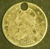 1835-P CAPPED BUST SILVER HALF DIME.  SHIPS FREE