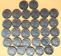 1929 P/D/S BUFFALO NICKELS-31 TOTAL COINS